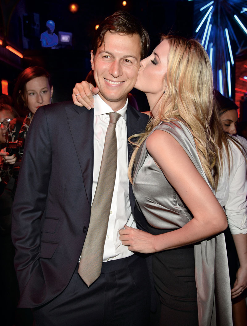 NEW YORK, NY - SEPTEMBER 08: Jared Kurshner and Ivanka Trump attend InStyle 20th anniversary celebration at Diamond Horseshoe at the Paramount Hotel on September 8, 2014 in New York City. (Photo by Kevin Mazur/Getty Images for InStyle)