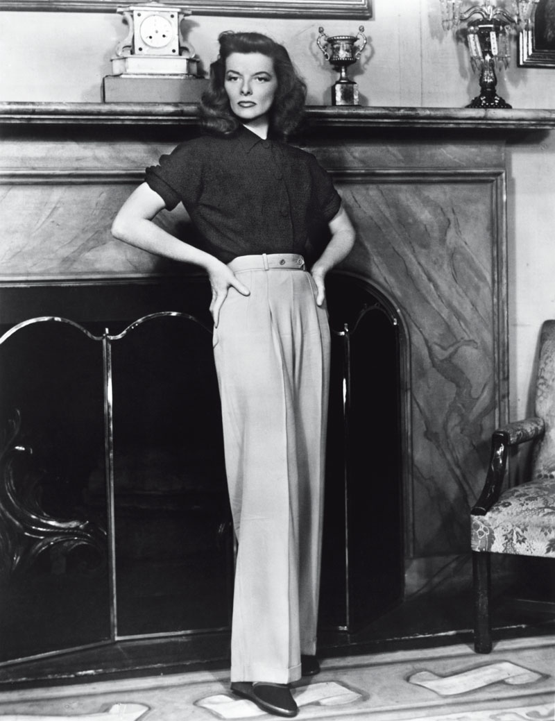 "(Original Caption) Katharine Hepburn in the stage version of ""The Philadelphia Story."" Photograph, 1930's."